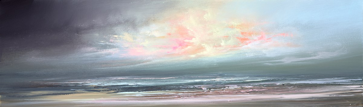 Calm Waters IV by philip raskin -  sized 39x12 inches. Available from Whitewall Galleries
